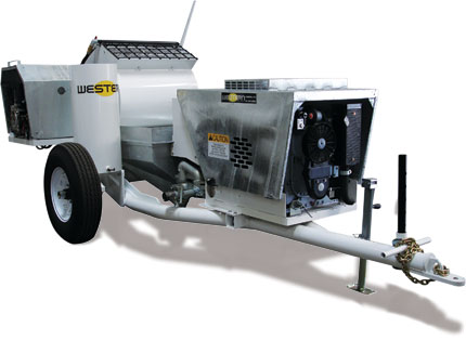 Predator Plaster/Stucco and Fireproofing Single Axle Pump